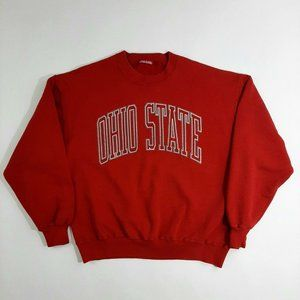 NCAA Mens Red Spellout Crewneck Sweater Size XL
